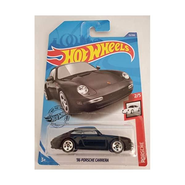 ポルシェ まとめ買い特価 カレラ ホットウィール モデルカー ダイキャスト 模型 ミニカー グッズ 納車祝い プレゼント インテリア スーパーカー 訳あり商品 2 5 2020 Porsche Hot '96 - Carrera 72 Black Wheels 250