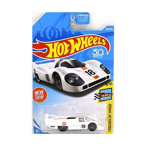 ポルシェ 917 ホットウィール モデルカー ダイキャスト 模型 ミニカー グッズ 納車祝い 待望 プレゼント インテリア スーパーカー LH Porsche Hot Speed Legends 2018 365 269 White of SALE Wheels