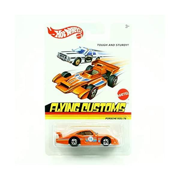 ポルシェ 935 ホットウィール モデルカー ダイキャスト 模型 ミニカー グッズ 納車祝い プレゼント インテリア スーパーカー お求めやすく価格改定 Wheels 割引 78 Porsche Flying Hot Orange Customs