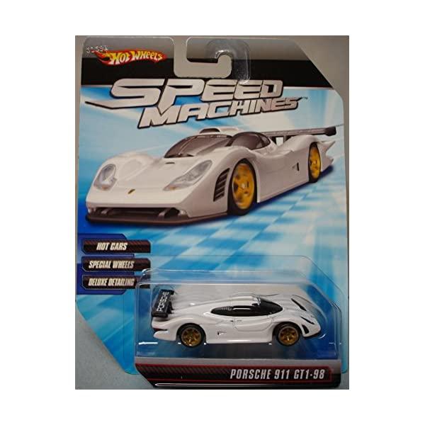 ポルシェ 911 GT1 ホットウィール モデルカー ダイキャスト 模型 ミニカー グッズ 納車祝い プレゼント インテリア スーパーカー Hot Wheels Speed Machines Porsche 911 GT1-98