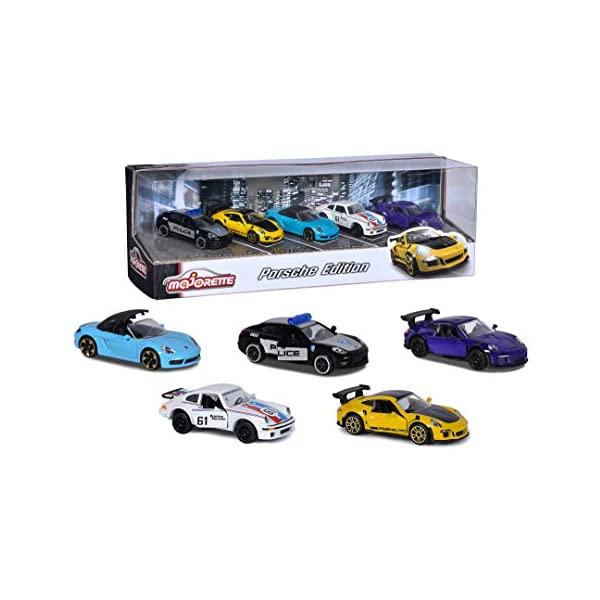 ポルシェ モデルカー 定価 ダイキャスト 模型 ミニカー グッズ 納車祝い プレゼント インテリア 気質アップ スーパーカー Majorette 1:64 Kids Adults 5-Pack Porsche Toys Edition 212053171 Cars and Die-cast for
