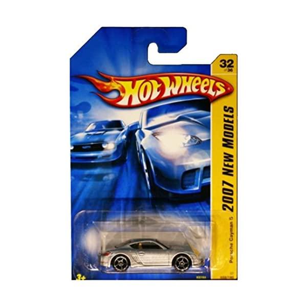 ポルシェ ケイマン ホットウィール モデルカー ダイキャスト 模型 ミニカー グッズ 納車祝い プレゼント インテリア スーパーカー Cayman S Porsche 2007 Series Silver Models New Scale Hot Die Cast No.32 限定特価 1:64 Collectible Car Wheels 海外限定
