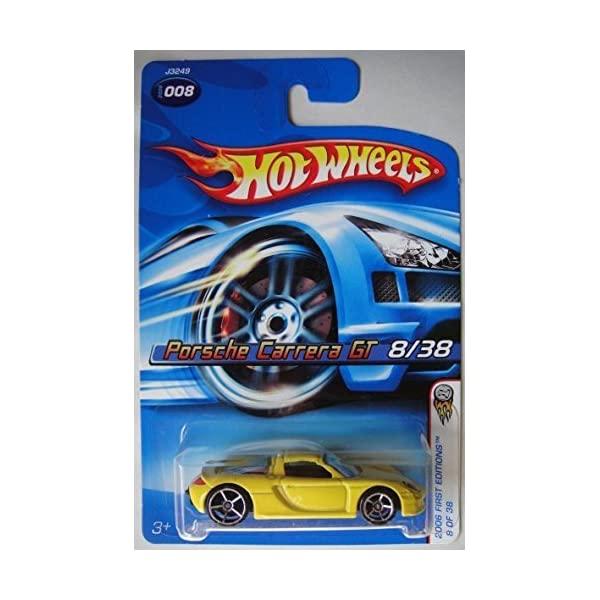 ポルシェ カレラGT マテル ホットウィール モデルカー ダイキャスト 模型 ミニカー グッズ 納車祝い プレゼント インテリア スーパーカー Hot Wheels Cast 1:64 2006 Carrera Editions GT Mattel Car Scale 送料込 Die First #008 Porsche 卓出 Yellow