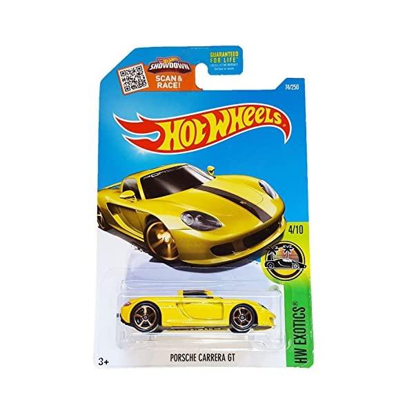 ポルシェ カレラGT ホットウィール モデルカー ダイキャスト 模型 ミニカー グッズ 納車祝い プレゼント インテリア スーパーカー Porsche Yellow HW 70%OFFアウトレット GT 記念日 250 Hot 74 Carrera Wheels Exotics 2016