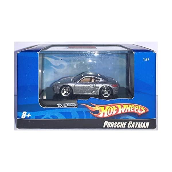 ポルシェ ケイマン ホットウィール モデルカー ダイキャスト 模型 ミニカー グッズ 納車祝い プレゼント インテリア スーパーカー Hot Wheels 2007 HW Grey Porsche Cayman 1:87 - Die Cast Vehicle Car in Acrylic Case
