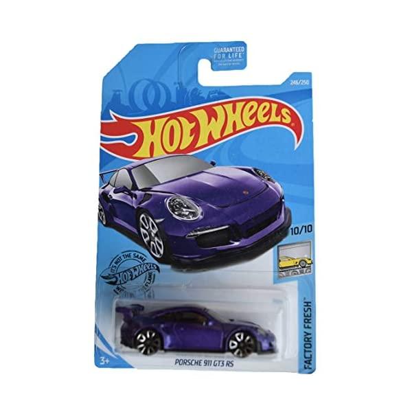 ポルシェ 911 GT3 ホットウィール モデルカー ダイキャスト 模型 ミニカー グッズ 納車祝い プレゼント Purple 値下げ 2019 Hot 250 246 Wheels Fresh ふるさと割 スーパーカー Porsche インテリア Factory