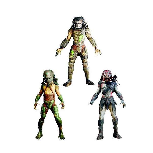 プレデター アクション フィギュア 人形 ネカ NECA Predators 2010 Movie Series 2 Set of 3 Action Figures Tracker, BD Classic Berserker Unmasked