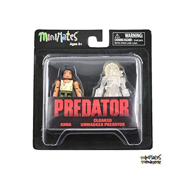プレデター ミニメイツ フィギュア 人形 Minimates Predator Series 4 Anna Variant & Cloaked Unmasked Predator 2-Pack