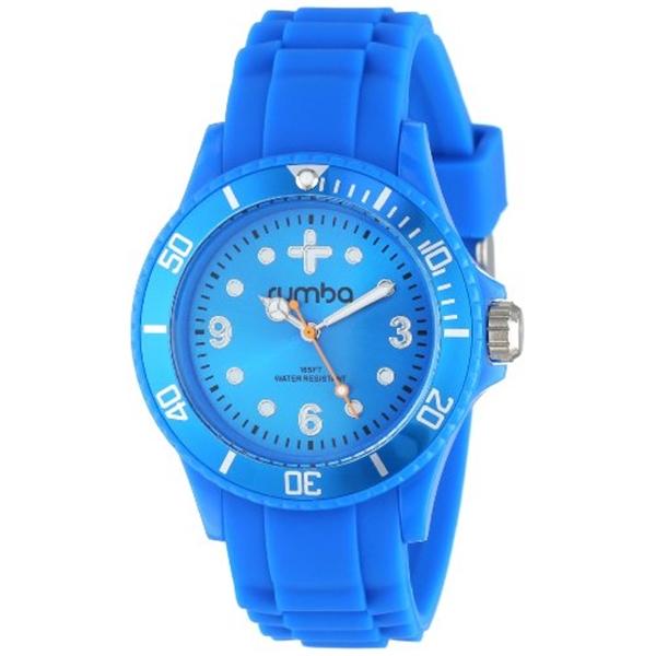 ルンバタイム RumbaTime レディース 腕時計 時計 RumbaTime Unisex 12542 Perry Silicone Band 38MM Azul Modern Stylish Analog Watch