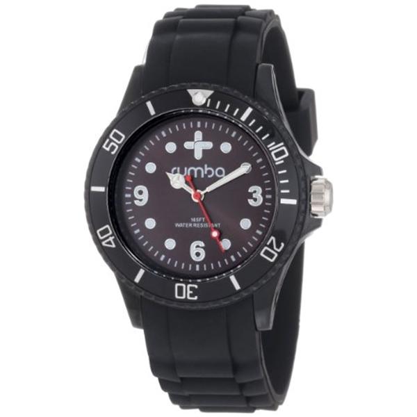 ルンバタイム RumbaTime レディース 腕時計 時計 RumbaTime Unisex 12573 Perry Silicone 38MM Lights Out Modern Stylish Analog Watch