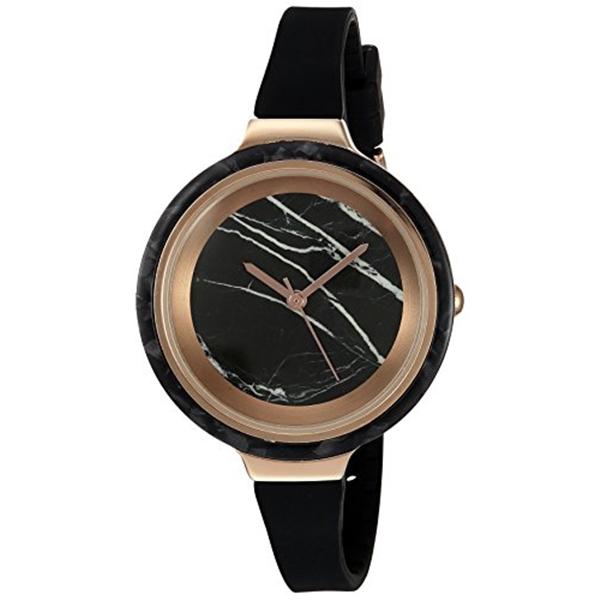 ルンバタイム RumbaTime レディース 腕時計 時計 RumbaTime Women's 'Orchard Marble Lights Out' Quartz Metal and Silicone Watch, Color:Black (Model: 25576)