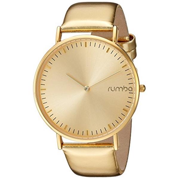 ルンバタイム RumbaTime レディース 腕時計 時計 RumbaTime Women's 'SoHo Metallic Gold' Quartz Metal and Leather Watch, Color:Gold-Toned (Model: 26054)