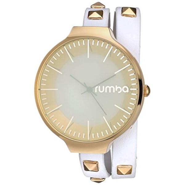 ルンバタイム RumbaTime レディース 腕時計 時計 RumbaTime Women's 'Orchard Double Wrap' Quartz Metal Casual Watch, Color:White (Model: 26528)