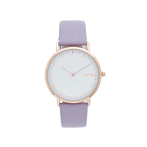 ルンバタイム RumbaTime レディース 腕時計 時計 RumbaTime Women's SoHo Leather Lilac Watch, Purple/Rose Gold, One Size
