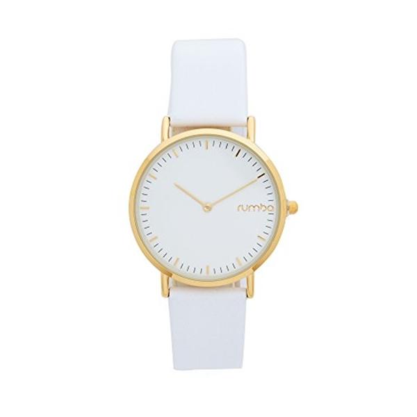 ルンバタイム RumbaTime レディース 腕時計 時計 RumbaTime Women's SoHo Leather Snow Patrol Watch, White/Gold, One Size
