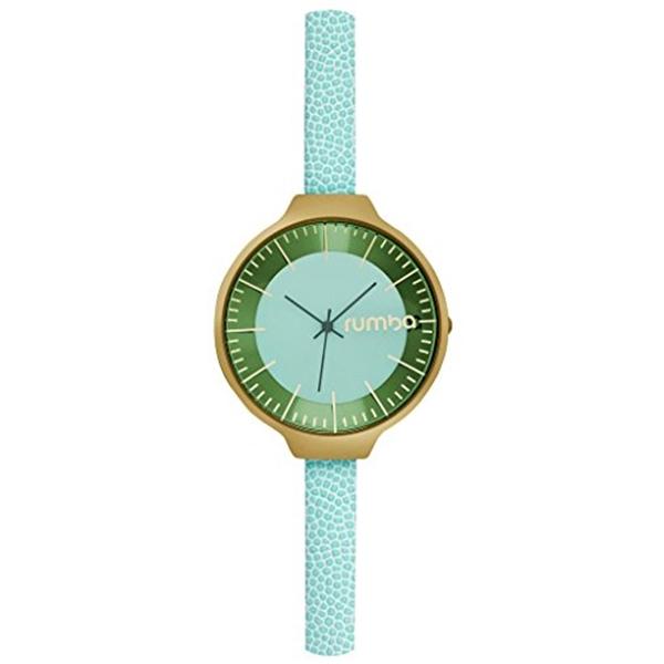 ルンバタイム RumbaTime レディース 腕時計 時計 RumbaTime Women's Orchard Leather Mint Watch, Gold/Mint, One Size