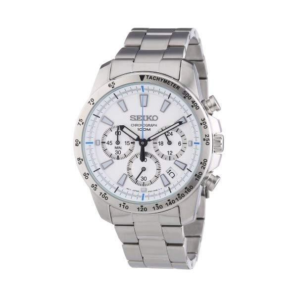 セイコー SEIKO 腕時計 ウォッチ SSB025 Seiko SSB025 men's Chronograph stainless Steel Case Watch