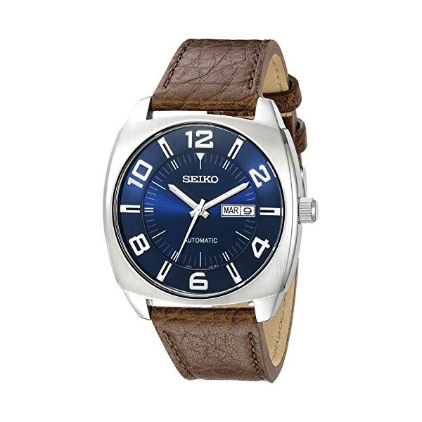 セイコー SEIKO 腕時計 ウォッチ メンズ 男性用 Seiko Men's Blue Dial Brown Leather Strap Automatic Watch