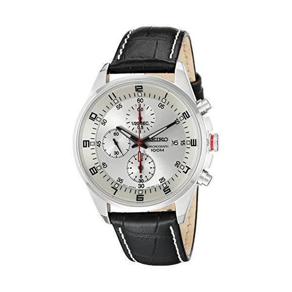 セイコー SEIKO 腕時計 ウォッチ メンズ 男性用 SNDC87P2 Seiko Men's SNDC87P2 Leather Synthetic Analog with White Dial Watch