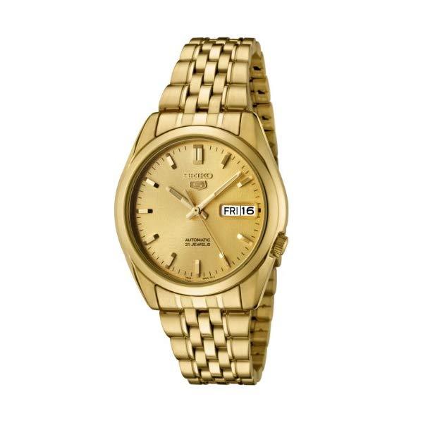 セイコー 腕時計 SEIKO SNK366K メンズ ウォッチ 男性用 SEIKO Men's SNK366K SEIKO 5 Automatic Gold Dial Gold-Tone Stainless Steel Watch:i-selection