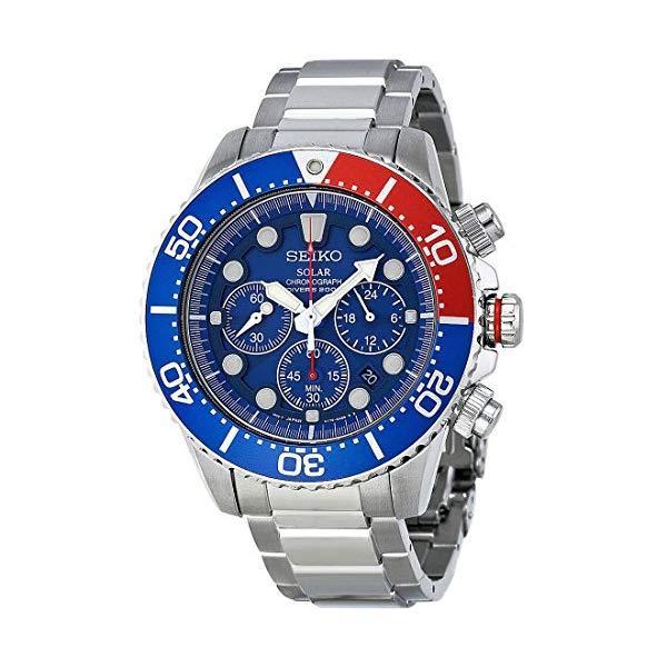 """セイコー 腕時計 SEIKO SSC019 メンズ ウォッチ 男性用 SEIKO Men""""s SSC019 Solar Diver Chronograph Watch"""