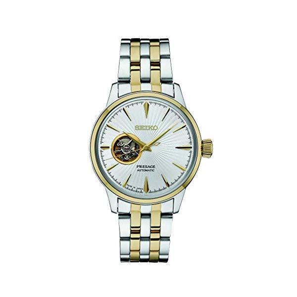 """セイコー 腕時計 SEIKO SSA358 プレザージュ メンズ ウォッチ 男性用 SEIKO Men""""s Presage Automatic Cocktail Time White Dial Two-Tone Dress Watch - Model: SSA358"""