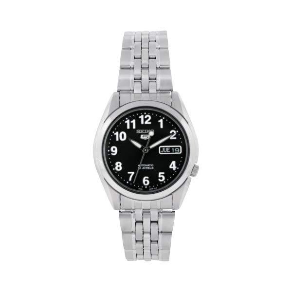 セイコー 腕時計 SEIKO SNK381K メンズ ウォッチ 男性用 SEIKO Men's SNK381K Stainless Steel Analog with Black Dial Watch
