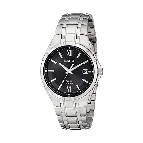 セイコー 腕時計 SEIKO SNE215 メンズ ウォッチ 男性用 SEIKO Men's Silvertone Solar Bracelet Watch