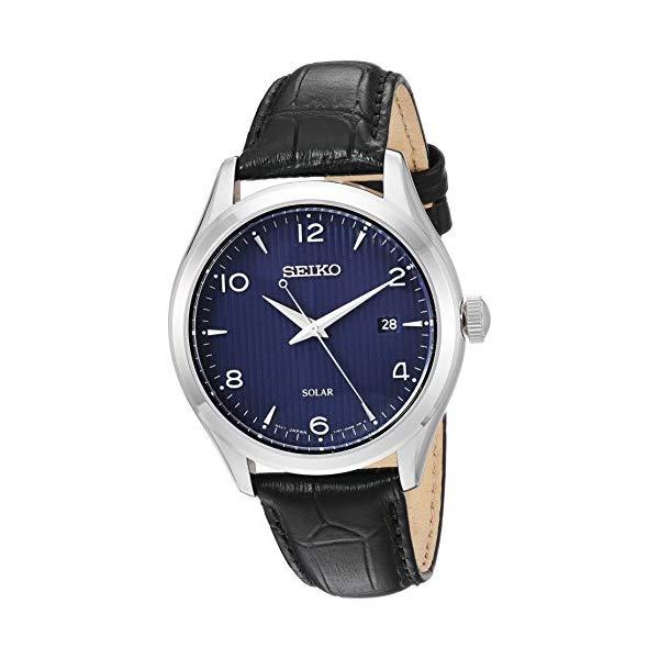 セイコー 腕時計 SEIKO SNE491 メンズ ウォッチ 男性用 SEIKO Mens Dress Stainless Steel Japanese-Quartz Watch with Leather Calfskin Strap, Black, 20.5 (Model: SNE491)