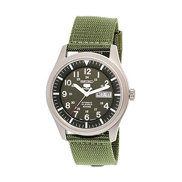 セイコー 腕時計 SEIKO SNZG09K1 メンズ ウォッチ 男性用 SEIKO 5 Men's SNZG09K1 Sport Analog Automatic Khaki Green Canvas Watch