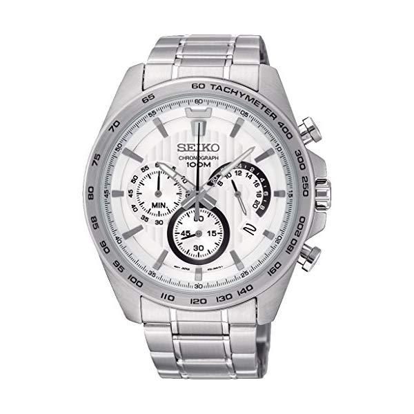"""セイコー 腕時計 SEIKO SSB297P1 メンズ ウォッチ 男性用 SEIKO Men""""s Chronograph Quartz Watch with Stainless Steel Strap SSB297P1"""