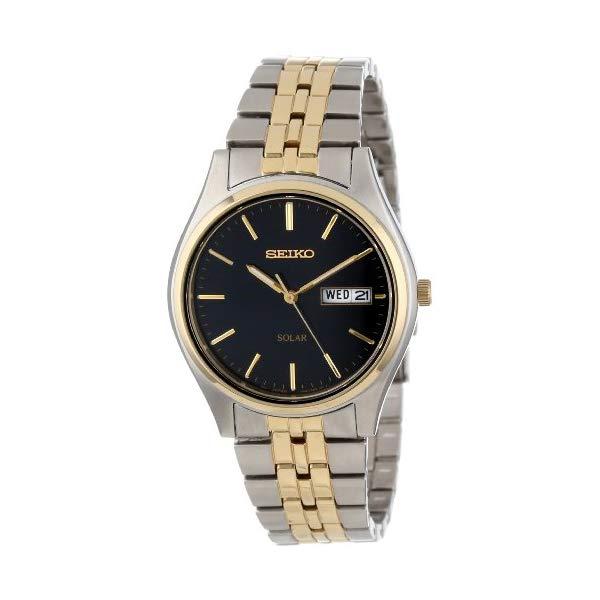 セイコー 腕時計 SEIKO SNE034 メンズ ウォッチ 男性用 SEIKO Men's SNE034 Two-Tone Solar Bluish black Dial Watch