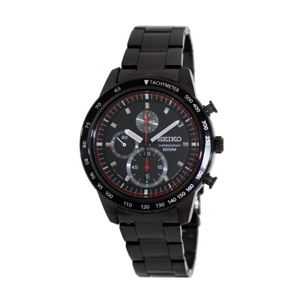 セイコー 腕時計 SEIKO SNDD89P1 メンズ ウォッチ 男性用 SEIKO Chronograph Black Dial Titanium Carbon Coated Mens Watch SNDD89