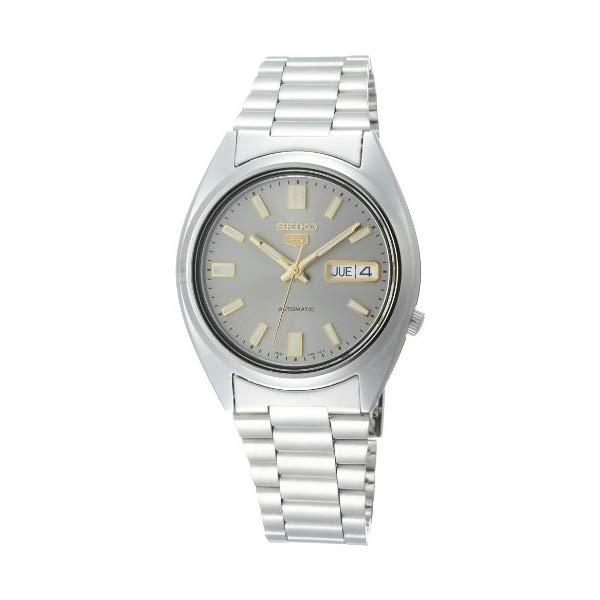 セイコー 腕時計 SEIKO SNXS75K1 メンズ ウォッチ 男性用 SEIKO Men's 5 37mm Steel Bracelet & Case Hardlex Crystal Automatic Grey Dial Analog Watch SNXS75K1