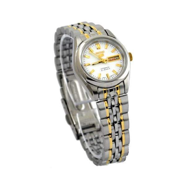 セイコー 腕時計 SEIKO SYMA35K1 SEIKO 5 Automatic Dress Watch White Dial Stainless Steel Two Tone
