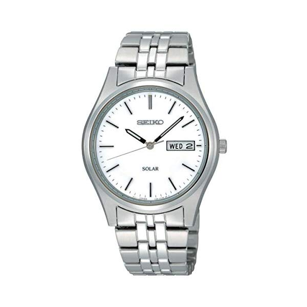 セイコー 腕時計 SEIKO SNE031P1 メンズ ウォッチ 男性用 SEIKO Men's Analogue Classic Solar Powered Watch with Stainless Steel Strap SNE031P1