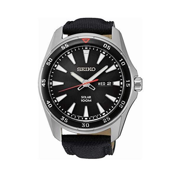 セイコー 腕時計 SEIKO SNE393P2 ウォッチ メンズ 男性用 SEIKO Men's Analogue Manual Watch with Textile Strap ? SNE393P2