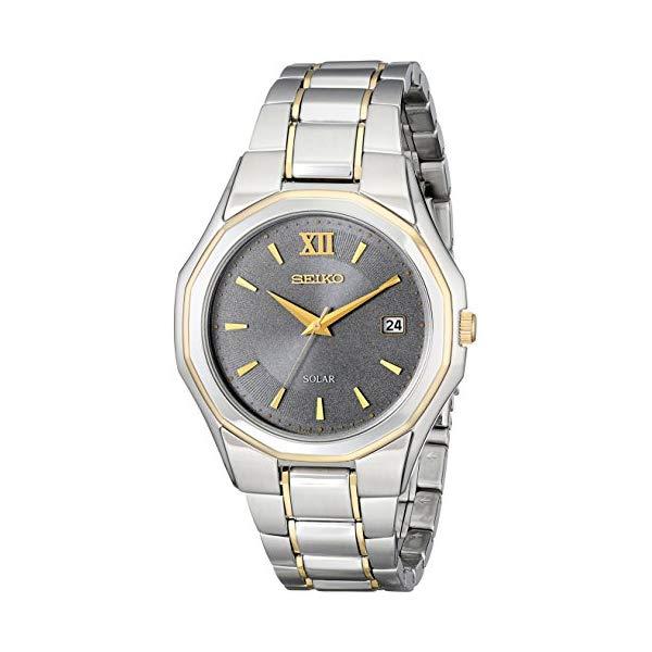 セイコー 腕時計 SEIKO SNE166 ウォッチ メンズ 男性用 SEIKO Men's SNE166 Classic Solar-Powered Two-Tone Stainless Steel Watch with Link Bracelet