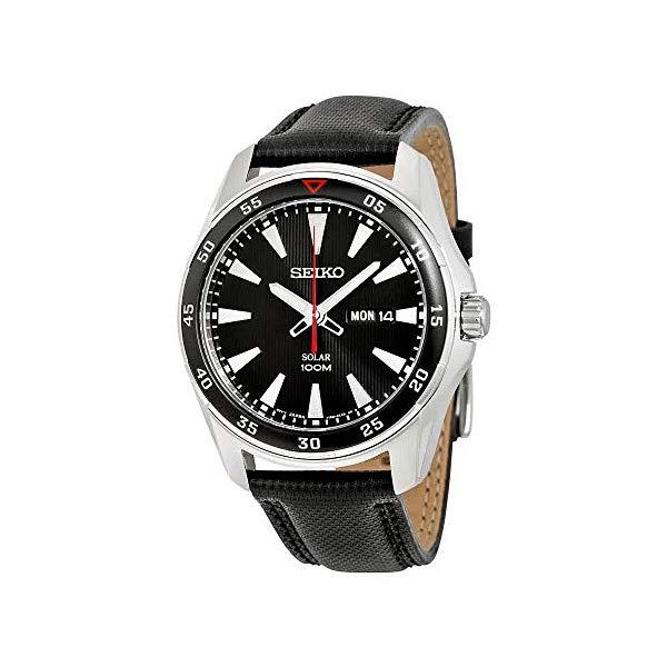 セイコー 腕時計 SEIKO SNE393P2 ウォッチ メンズ 男性用 SEIKO SNE393P2,Men's Solar Quartz,Stainless steel Case,Leather Strap,100m WR,SNE393P2
