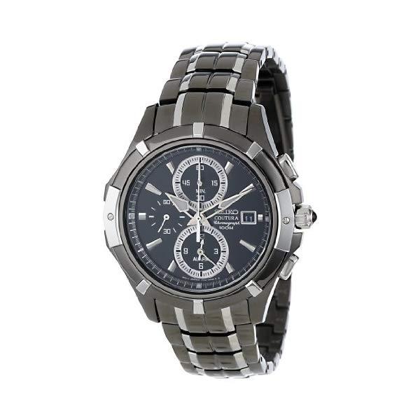セイコー 腕時計 SEIKO SNAE57 ウォッチ メンズ 男性用 SEIKO Men's SNAE57 Black Dial Watch:i-selection