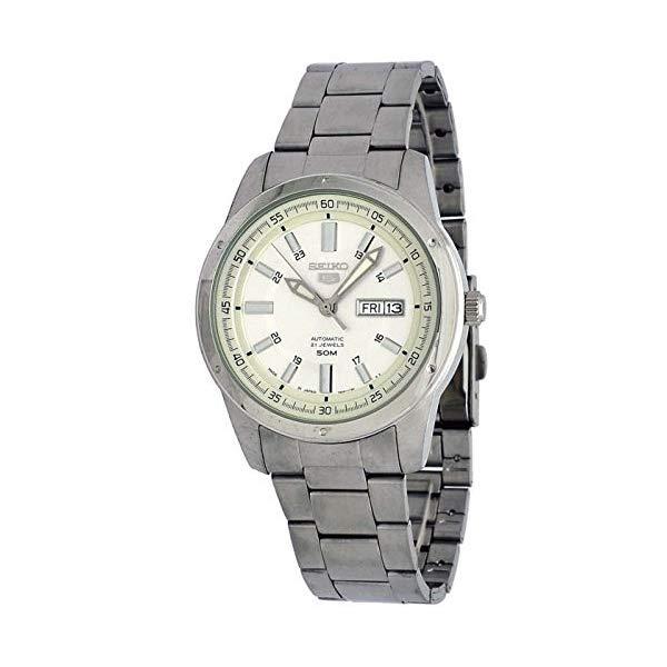セイコー 腕時計 SEIKO SNKN09J1 ウォッチ メンズ 男性用 SEIKO 5 SNKN09J1 Men's Japan Stainless Steel Silver Dial 50M WR Automatic Watch
