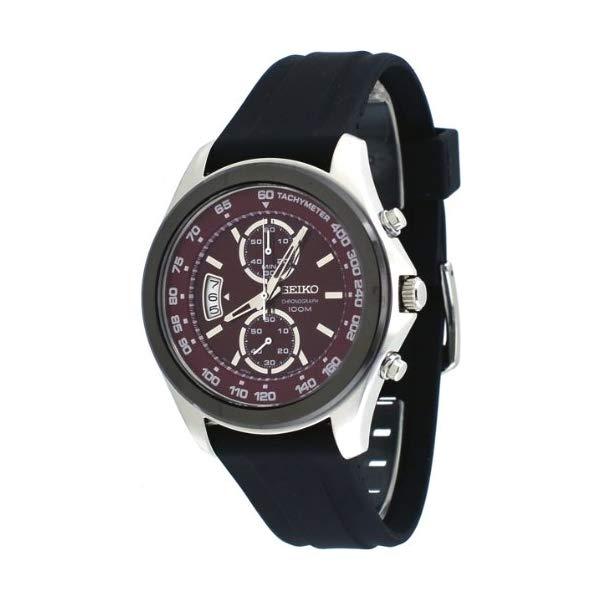 セイコー 腕時計 SEIKO SNN263P1 ウォッチ メンズ 男性用 SEIKO Chronograph Red Dial Black Rubber Mens Watch SNN263