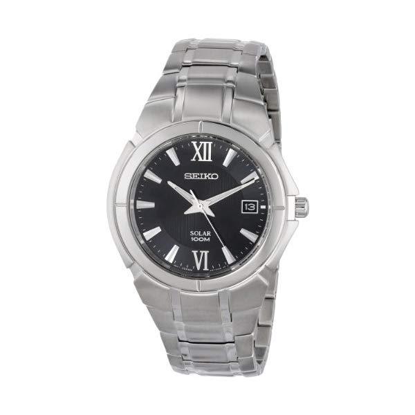 セイコー 腕時計 SEIKO SNE087 ウォッチ メンズ 男性用 SEIKO Men's SNE087 Two Tone Stainless Steel Analog with Black Dial Watch