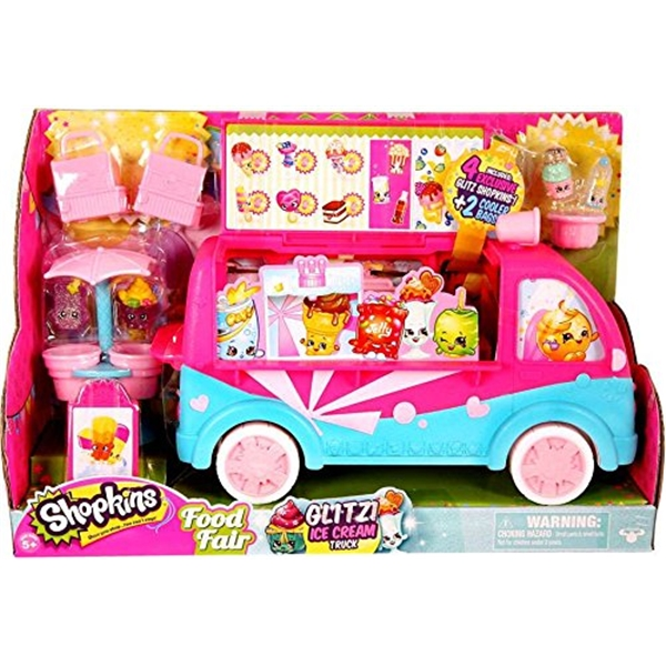 ショップキンズ おもちゃ 人形 ドール フィギュア Shopkins Glitzi Ice Cream Truck