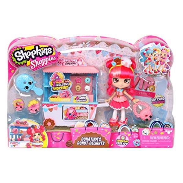ショップキンズ おもちゃ 人形 ドール フィギュア Shopkins Shoppies Donatinas Donut Delights