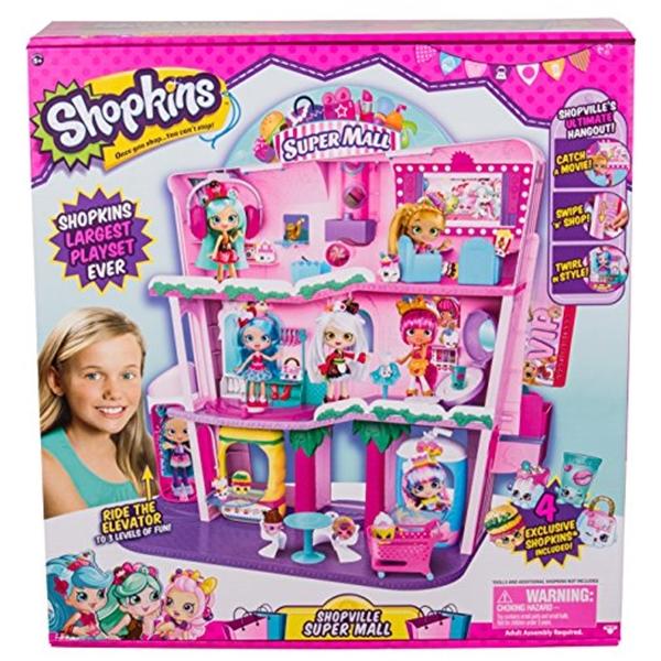 ショップキンズ おもちゃ 人形 ドール フィギュア Shopkins Shoppies Shopville Super Mall