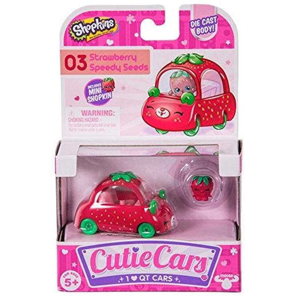ショップキンズ おもちゃ 人形 ドール フィギュア Shopkins Speedy 期間限定今なら送料無料 03 Seeds Cutie Strawberry Cars 品質保証