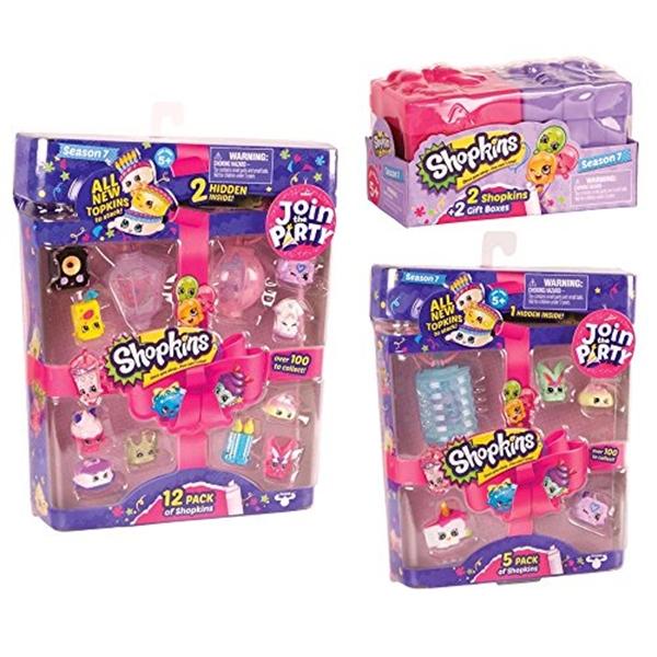 ショップキンズ おもちゃ 人形 ドール フィギュア Shopkins Season 7 Shopkins Mega Gift Bundle (12-Pack/5-Pack/2-Pack) Join the Party!