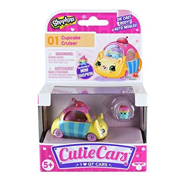 ショップキンズ おもちゃ 人形 ドール フィギュア Shopkins Cutie Cars #01 Cupcake Cruiser with Mini Shopkin Exclusive