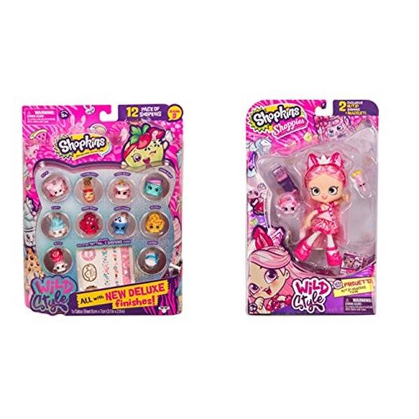 ショップキンズ おもちゃ 人形 ドール フィギュア Shopkins Wild Style Season 9 Shoppies Pirouetta Doll and 12 Pack (random styles) Bundle